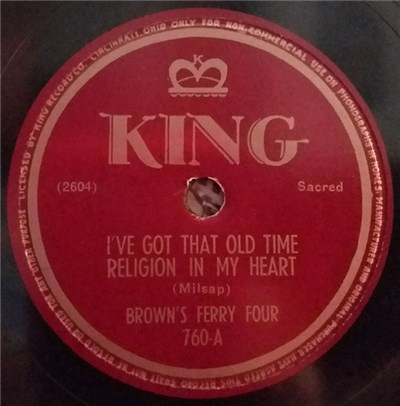 Brown's Ferry Four - I've Got That Old Time Religion In My Heart / His Boundless Love album mp3