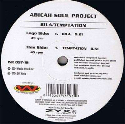 Abicah Soul Project - Bila / Temptation album mp3