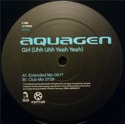 Aquagen - Girl (Uhh Uhh Yeah Yeah) album mp3