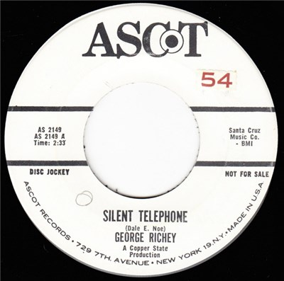 George Richey - Silent Telephone / Lonely Part Of Town album mp3