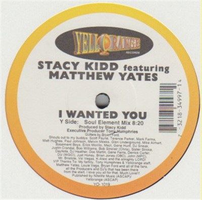Stacy Kidd Featuring Matthew Yates - I Wanted You album mp3