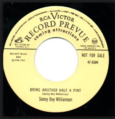 Sonny Boy Williamson / Square Walton - Bring Another Half A Pint / Bad Hangover album mp3