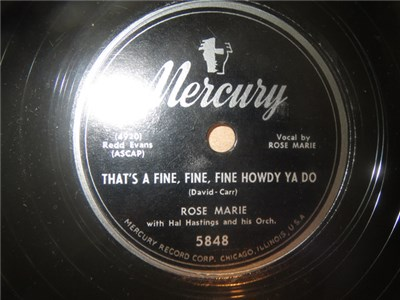 Rose Marie - That's A Fine, Fine, Fine Howdy Ya Do / The Ice Man album mp3