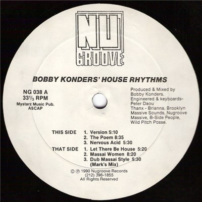 Bobby Konders - House Rhythms album mp3